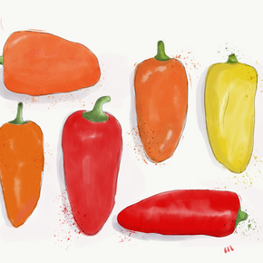 Peppers by Emma Bryan