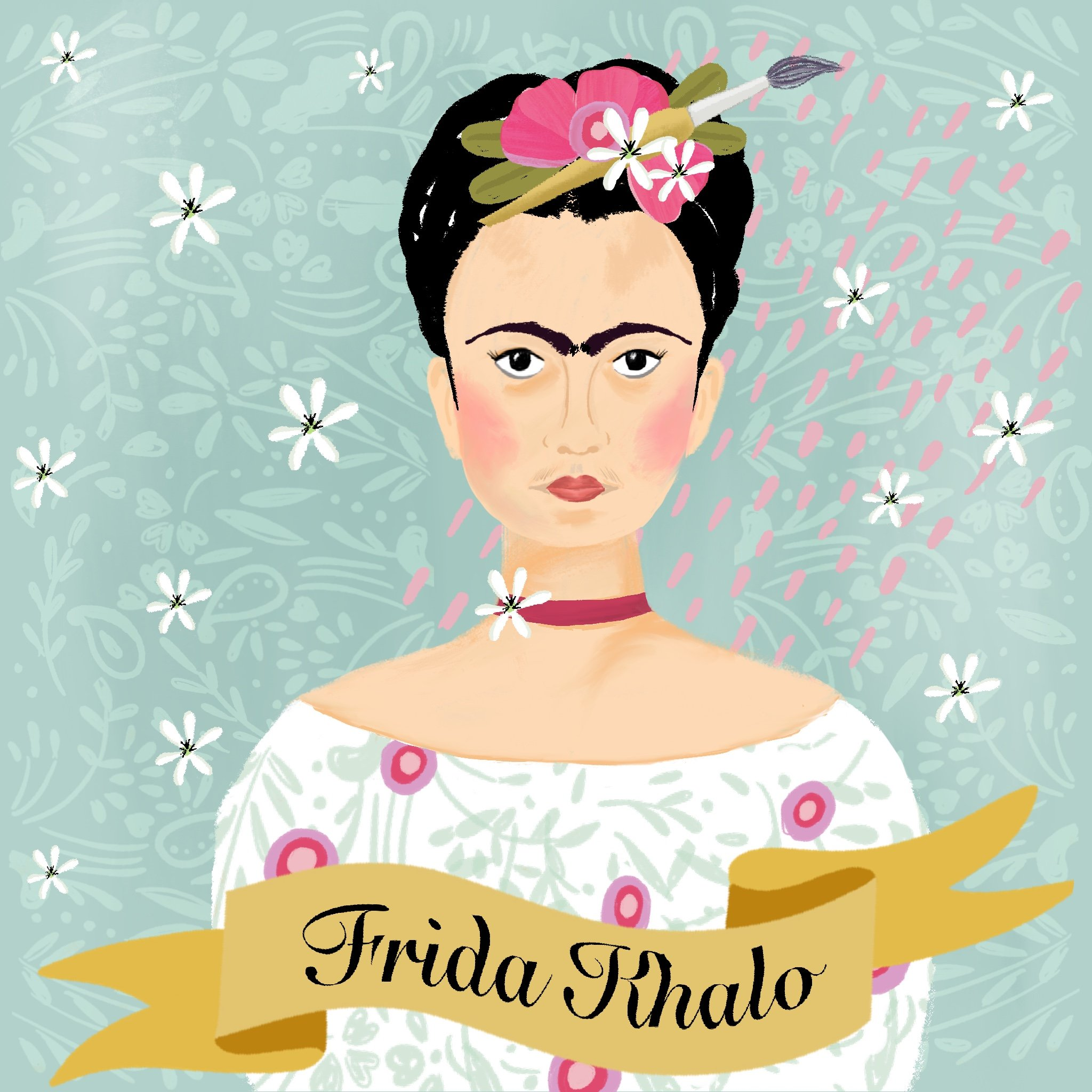 Portrait of Frida_Khalo by Emma Bryan